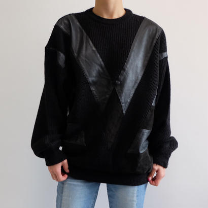 VINTAGE  LEATHER KNIT