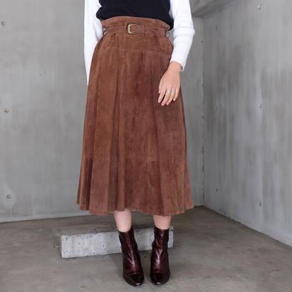 Vintage   Suede long Skirt