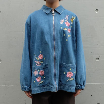 Vintage Embroidery Denim Jacket