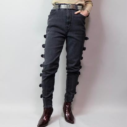 Vintage   Belt Denim Pants