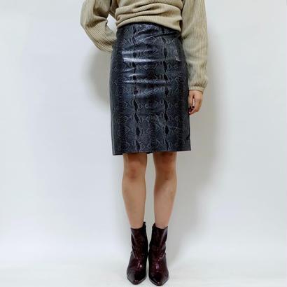 Vintage   Python Leather Skirt