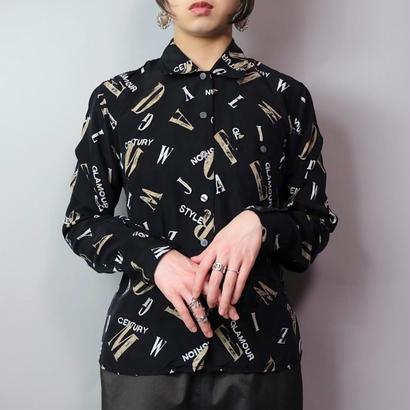 Vintage   Print Silk Shirt