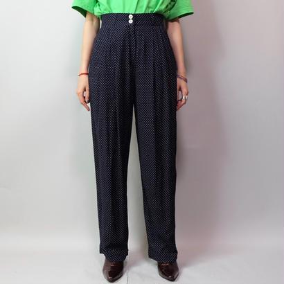Vintage   Rayon Dot Slacks pants
