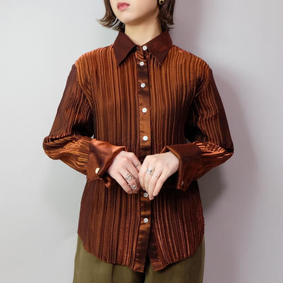 Vintage   Rayon Pleats Shirt
