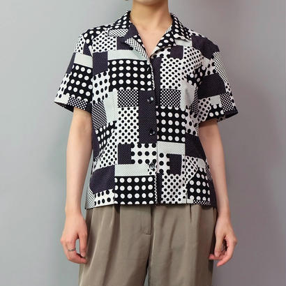 Vintage   Dot Design Shirt