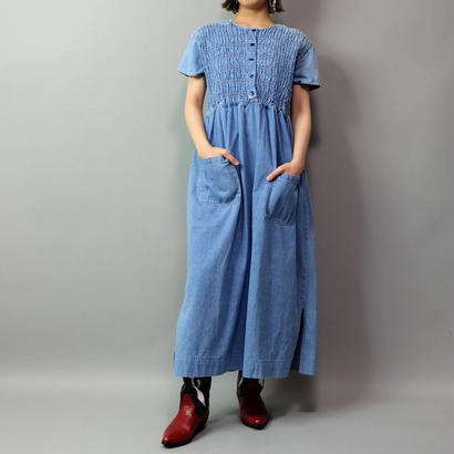 Vintage  Denim Design Onepice