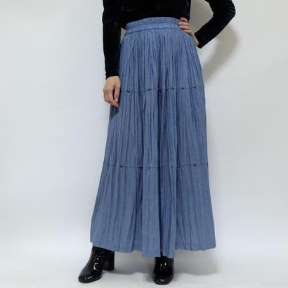 Vintage    Pleats Long  Skirt