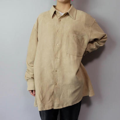 Vintage   Fake Suede Shirt