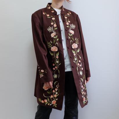 VINTAGE   FLOWER embroidery COAT