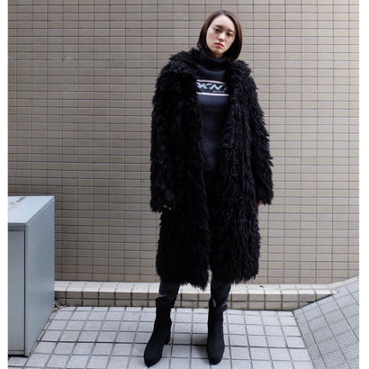 Vintage  Knit Long Coat