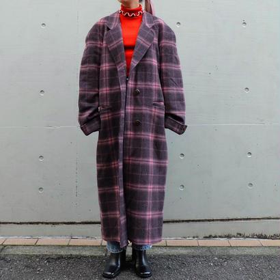 Vintage   Check  Long Coat