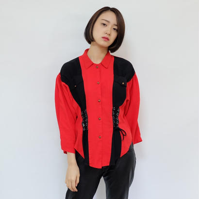 Vintage   Lace Up  Shirt