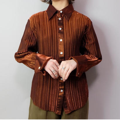 Vintage   Rayon Pleats Shirt