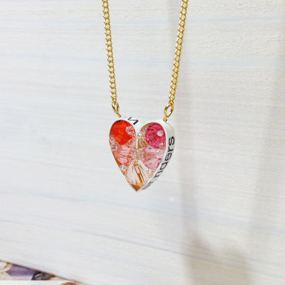 Metrocard necklace メトロカードネックレス/ハート・ピンク系・ゴールドチェーン