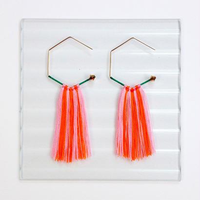 14KGF wire earrings/蓑亀ピアス