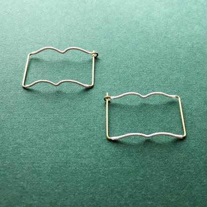 14KGF wire earring/14KGFワイヤー/ブックピアス
