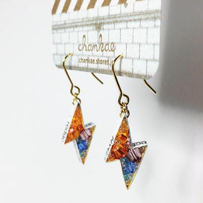 Metrocard pierced earrings メトロカードピアス/フラッシュタイプ・ゴールド 01
