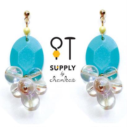 Jewelry kit アクセサリー制作キット/ヴィンテージ&チェコクリアビーズのピアス