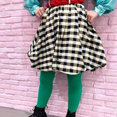 Plaid Balloon Skirt