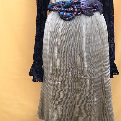 Gold Pleats Skirt