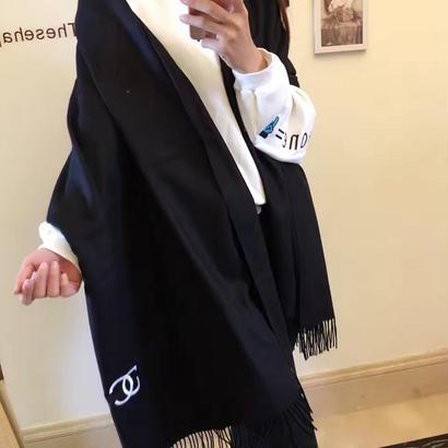 新作 人気 セール シャネル CHANEL マフラー ストール メンズ レディース ユニセックス 男女兼用 2色 CN-WX-09