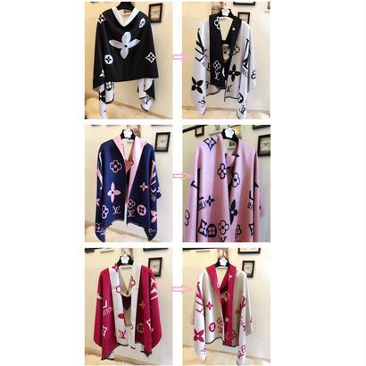 新作 人気 セール ルイヴィトン LOUIS VUITTON モノグラム マフラー ストール メンズ レディース ユニセックス 男女兼用 2色 LV-WX-07