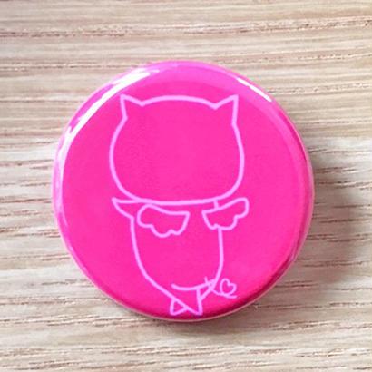 はーとん缶バッチ  Pink