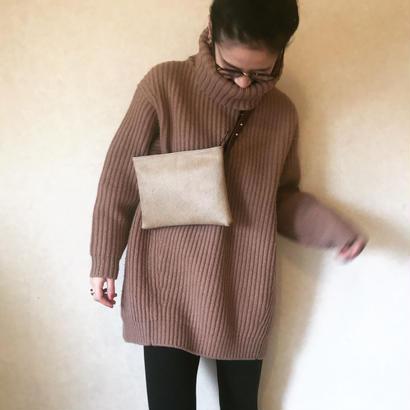 [ fur waist ] cowhide / beige
