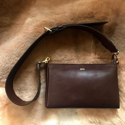 [ widebelt  shoulderbag ] brown