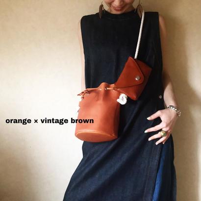 [ kinchaku & porch ] brown・orange 全7色