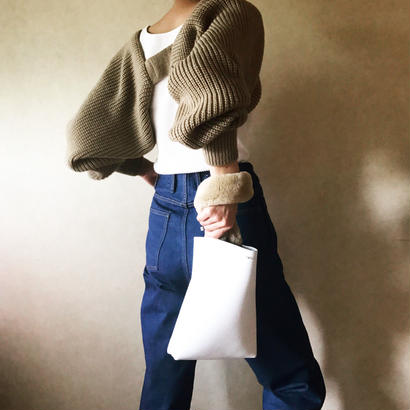 [ dhuta bag ] white×fur 全2色