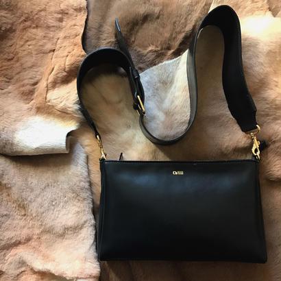 [ widebelt  shoulderbag ] mat black