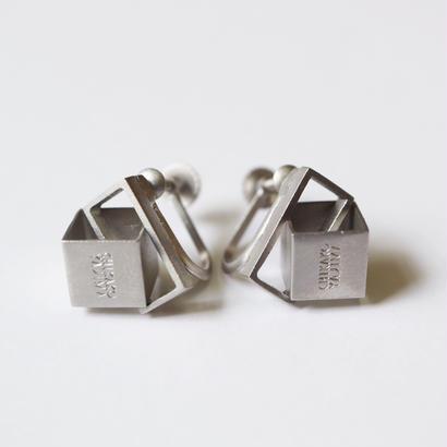 Cube / Silver イヤリング