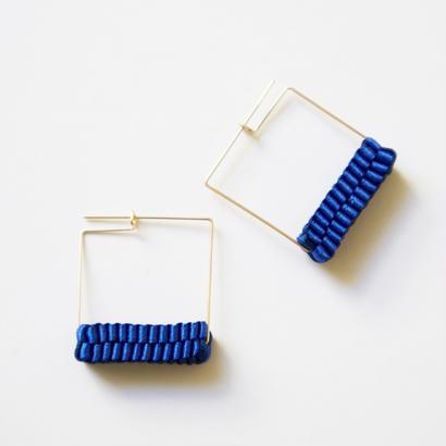 Square/  Pierced Earrings Blue ピアス