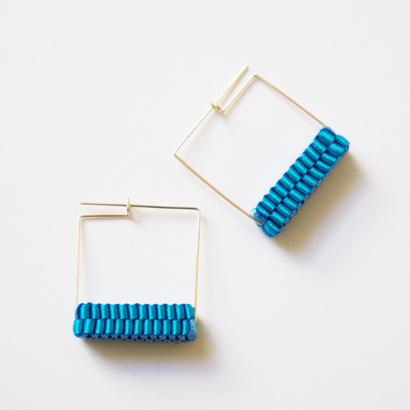 Square/  Pierced Earrings Sky Blue    ピアス