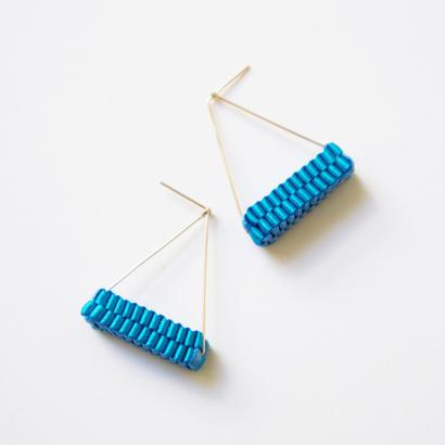 Triangle/  Pierced Earrings Sky blue  ピアス