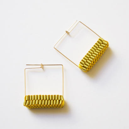 Square/  Pierced Earrings Gold    ピアス