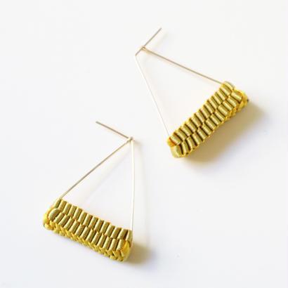 Triangle/  Pierced Earrings Gold  ピアス