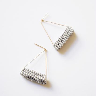 Triangle/  Pierced Earrings Gray  ピアス