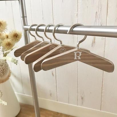CHIRO original- Wood Hanger- 5pcs Set(ウォルナット)size: 12cm, 14cm, 16cm, style no. 1705004W