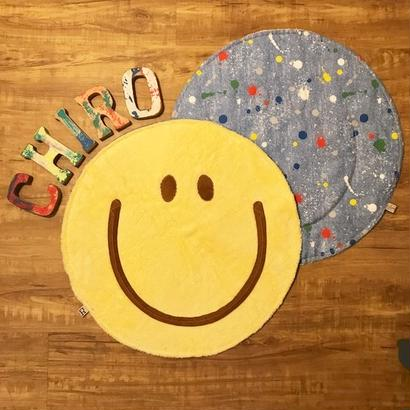 マシュマロ SMILY Café マット ~チョコフェイス~ (バナナチョコ)size: 50cm x 50cm  style no. 1707003B