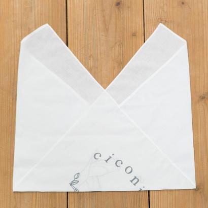 柏原注染 あずま袋 キコニス ロゴ 白
