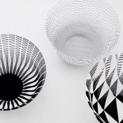 空気の器 ブラック&ホワイトパターン
