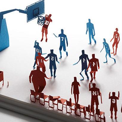 1/100建築模型用添景セット バスケットボール編