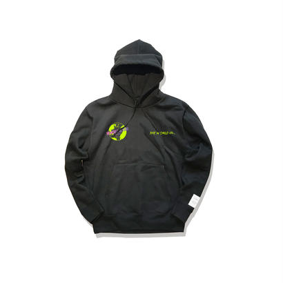 "数量限定 Civiatelier ""The world is yours"" Hoodie BLK×YELLOW GREEN"