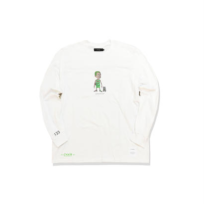 "受注予約 10/8のみ ゲリラ販売 数量限定 Civiatelier ""My Dogs"" Long Sleeve T-shirts WHITE×CAMO"