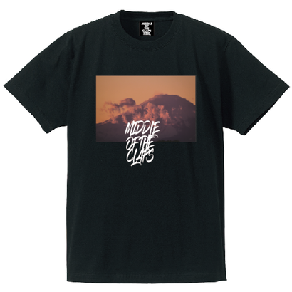CLAPS Fight mountain T-SHIRT  (BLACK)