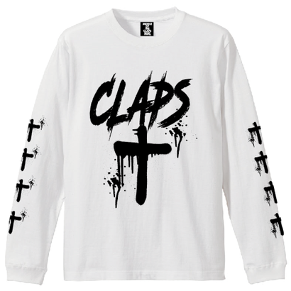 CLAPS CLOSS  L/S  T-SHIRT  (WHITE)