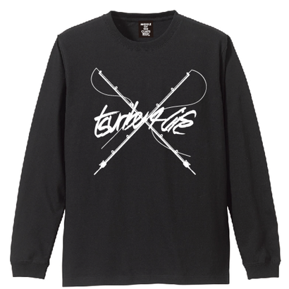 TSURIBU CROSS ROD  L/S T-SHIRT (BLACK)