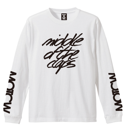 TRIPLE SIGN  L/S T-SHIRT ( WHITE)